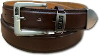 """NEW MENS BROWN LEATHER LINED JEANS TROUSER BELT SIZE 32"""" - 60"""" MEDIUM - 5XL 5055"""