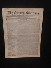 1864 THE COUNTRY GENTLEMAN ALBANY NY NEWSPAPER ~ LIVE STOCK FARMS HORTICULTURE