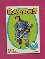 1971-72 TOPPS # 22 SABRES DOUG BARRIE ROOKIE EX-MT CARD (INV# A1404)