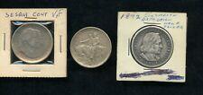 (3)U.S 90% Silver Commemorative 50c Lot-1926 Sesquicent,1892 Columbia,1925 Texas
