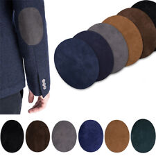 1Pair Suede Oval Fabric Patch Iron-on Elbow Knee Patches Sewing Badges UK Stock