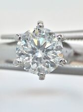 IGI Certified 1.02ct I1 F Round Diamond Solitaire Engagement Ring in 14k Gold