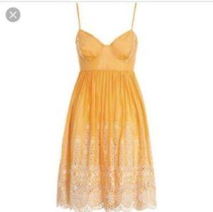 RARE Zimmermann Sundance Embroidered Bustier Dress In Marigold Size 2