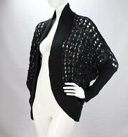 Abound Nwt Boho Black Crochet Knit Lace Nordstroms Shall Cardigan Sweater SZ S/M