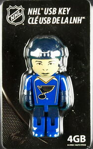 ST. LOUIS BLUES HOCKEY PLAYER NHL 4GB USB KEY 2.0 FLASH DRIVE 4GB CAPACITY