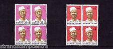 Sierra Leona - 1972-78 1l & 2l en bloques de cuatro-u/m-Sg 587a-88a