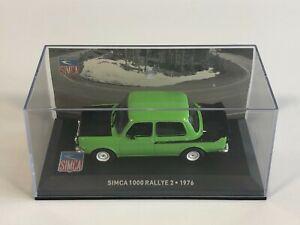ALTAYA IXO Simca 1000 Rallye 2 Vert 1976 1/43 Voiture Miniature Collection