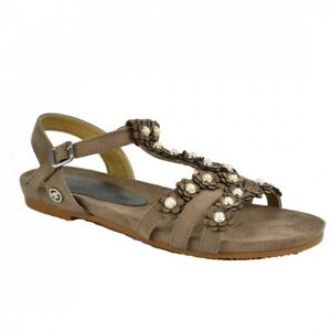 Tom Tailor Damen Sandalen Riemchen Schuh Sandaletten Taupe