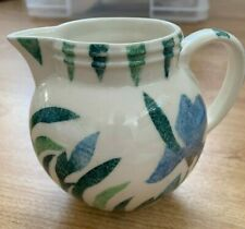 JANE & STEPHEN BAUGHAN ASTON OXFORDSHIRE POTTERY SMALL JUG HAND DECORATED IRIS