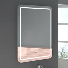 LED Bathroom Mirror illuminated Sensor Touch Switch Wall Light Demister Pad