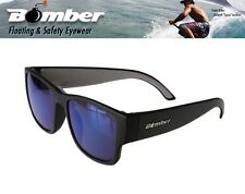 Bomber Floating GOMER Sunglasses Matte Black w/ Blue Lens Mens Boys Designer