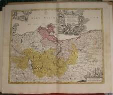 BRANDENBURG POMERANIA GERMANY POLAND 1720 HOMANN ANTIQUE COPPER ENGRAVED MAP