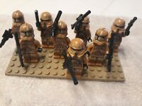 8 LEGO Star Wars Geonosis Airborne Clone Trooper Minifigures w guns 75089 lot **