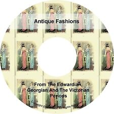 Antique Fashions Georgian Victorian Edwardian Dress Skirts Blouse Books on CD