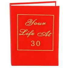 "Red Book Birthday Photo Album ""Your Life at 30"" - 30th birthday"