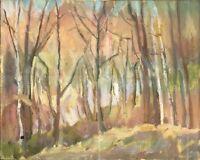 """Russischer Realist Expressionist Öl Leinwand """"Herbst"""" 50x40 cm"""
