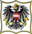 Österreich- Austria-Bundesadler Wappen  Patch Aufnäher, Pin ,Aufbügler 15x15cm.