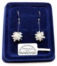Orecchini fiocco di Neve donna pl. oro bianco 18K con cristalli swarovski SW/19