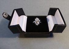 Brillantring Weißgold 585 punziert Brillanten Ring um 1960 insgesamt 1,05 Karat