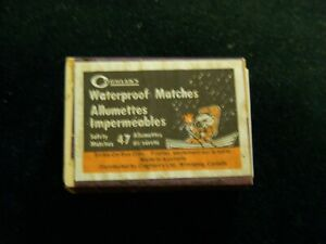 Vintage Coghlan's waterproof safety with cartoon boat guy  Canada matches box