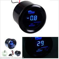 """2"""" 52mm Car Digital Blue LED Display Red LED Warning PSI Turbo Boost Gauge Meter"""