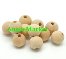 70 x wooden wood beads balls premium quality 10mm raw natural jewellery making