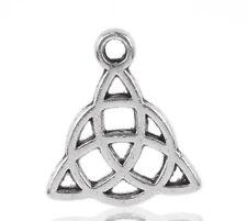 250 Amulette Triquetra Keltisch Dreiheitsknoten Charms Anhänger für Kette LP