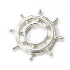 "Original RING DING Scheibe ""Nautik Steuerrad"" 925 Silber 23 mm"