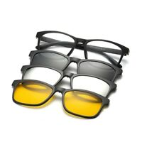 Bifocal Reading Glasses 1.0 1.5 2.0 with 3 Magnetic Clip-on Sunglasses Polarized