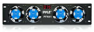 """Pyle PFN41 19"""" Rack Mount Cooling Fan System W/Temperature Display"""