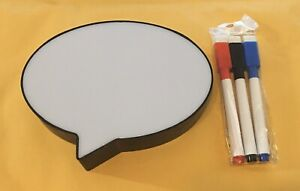 "Mini Light Up Message Board w/ Three Erasable Markers by Vivitar 5 3/4 x 4"" NEW"