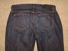 GAP Size 4A Long & Lean Slight Flare Stretch Dark Blue Denim Womens Jeans