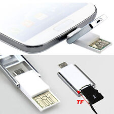 Mini 2 In 1 Micro USB 2.0 OTG Adapters + Micro SD TF Card Reader fore PC Samsung