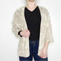 CHICO'S Women's 3/Xlarge Marled Knit Open Front Cardigan Sweater