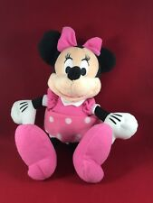 MINNIE MOUSE Pink Polka Dot Soft Plush Stuffed Doll Toy 10""