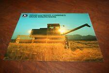 John Deere Grain and Maize Combine Brochure 3300 4400 6600 6601 7700 1973