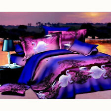 Fashion Home Bed Linen Set 3D Oil Printing Bedding Set Swan Lake Comforter Cover