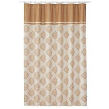 Estate Croscill Sonata Fabric Shower Curtain Gold Bohemian Paisley Pattern NEW