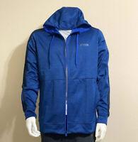 Adidas Men's Full Zip Hoodie in Royal Blue/ Black, Size Large