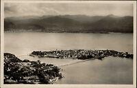 Lindau im Bodensee s/w Postkarte 1933 Gesamtansicht vom Flugzeug aus gesehen