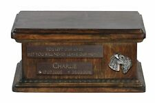Kerry Blue Terrier - Urn for dog's ashes with relief, sentence, low model ArtDog