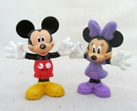 Set Disney Clubhouse Mickey & Minnie Mouse Bendable Figure Figurine Cake Topper