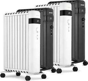 Oil Filled Radiator Heater Electric With Timer Digital Portable 2KW 2.5KW Mylek