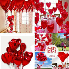 """1PC 22"""" Red Heart Foil Helium Balloons Wedding Valentines Day Engagement Decor"""