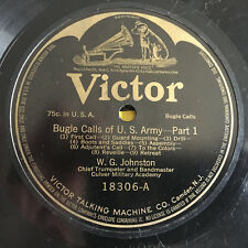 Bugle Calls US ARMY W G Johnson VICTOR 78 rpm Victrola Military Academy Record