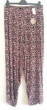 Ex Evans Multi Ditsy Floral Print Joggers Tapered Trousers Holiday Size 26/28/30