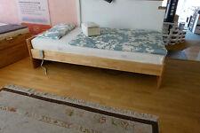 Bett Trend massiv Birke natur geölt 90 x 200cm  mit Kopfteil