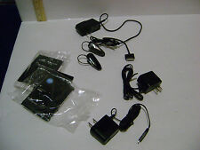 2 Motorola H560 Bluetooth w/ A/C Cords (Red Light) - For Repairs & Iphone Cord