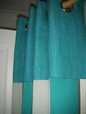 "Handmade Eyelet curtains in Laura Ashley Trentham Barton Teal NEW 90"" drop RARE"