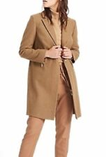 New M&S Womens Ladies Marks and Spencer Camel gold zip pocket Coat size 12